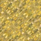 Sömlös diagonal mosaikbakgrund i gult spektrum Royaltyfri Bild