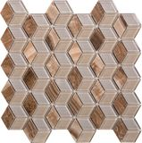 Sömlös diamant formad mosaisk modell, Arkivfoton