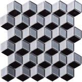 Sömlös diamant formad mosaisk modell Arkivbild