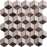 Sömlös diamant formad mosaisk modell Royaltyfri Fotografi