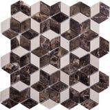 Sömlös diamant formad mosaisk modell Royaltyfri Foto