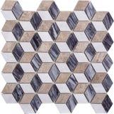 Sömlös diamant formad mosaisk modell Arkivfoto