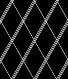 Sömlös diamantmodell Vit geometrisk textur på svart bakgrund stock illustrationer