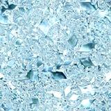 Sömlös djupfryst is och Tileable bakgrundstextur Arkivfoton