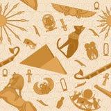 Sömlös Egypten modell vektor illustrationer