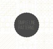 Sömlös enkel linje geometriska modeller Fotografering för Bildbyråer