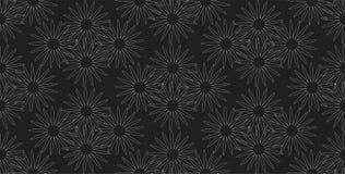 Sömlös enkel stiliserad blom- modellvektor Arkivbild