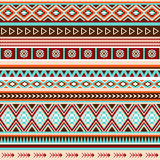 Sömlös etnisk indisk modell Vektor Illustrationer
