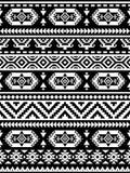 Sömlös etnisk modell i monokrom, svartvita färger Royaltyfri Foto