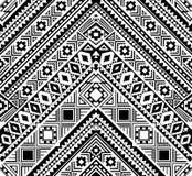 Sömlös etnisk modell i monokrom, svartvita färger Arkivbilder