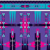 Sömlös etnisk stam- modellprydnad Royaltyfri Bild