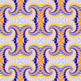 Sömlös färgrik abstrakt modell för design. Piruettbeståndsdeltwisti Royaltyfri Fotografi
