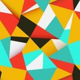 Sömlös färgrik abstrakt retro bakgrund Arkivbild