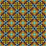 Sömlös färgrik blom- vektormodell Abstrakt etnisk stilnolla vektor illustrationer