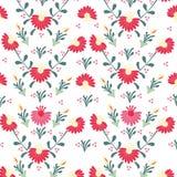 Sömlös färgrik blommamodell Fotografering för Bildbyråer