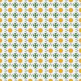 Sömlös färgrik blommamodell för design Arkivbilder