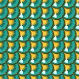 Sömlös färgrik flodfiskvåg Royaltyfri Bild