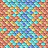 Sömlös färgrik flodfiskvåg royaltyfri illustrationer
