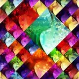 Sömlös färgrik geometritextur kan användas i räkningsdesignen, bokdesignen, websitebakgrund Royaltyfria Bilder