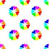 Sömlös färgrik hjärtamodell Bakgrund för dag för valentin` s Arkivbild