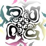 Sömlös färgrik marmortextur, dekorativa virvelstenciler stock illustrationer