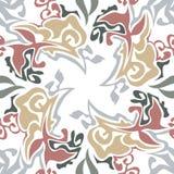 Sömlös färgrik marmortextur, dekorativa virvelstenciler Arkivbild