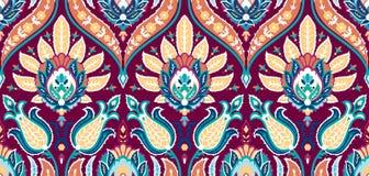 Sömlös färgrik modell för vektor i turkisk stil Dekorativ bakgrund för tappning tecknad handprydnad Islam arabiska royaltyfri illustrationer