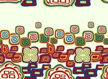 Sömlös färgrik modell i indisk stil med symboler Illustration för vektor EPS10 Arkivfoto