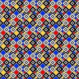 Sömlös färgrik mosaikmodell för design stock illustrationer
