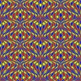 Sömlös färgrik mosaikmodell för design Royaltyfria Bilder