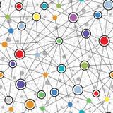Sömlös färgrik nätverksmodell Arkivfoto