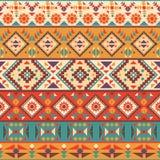 Sömlös färgrik navajomodell royaltyfri illustrationer