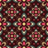 Sömlös färgrik prydnad Royaltyfri Bild
