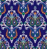 Sömlös färgrik traditionell indisk tapet vektor illustrationer