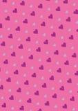 Sömlös förälskelsemodellbakgrund med hjärtor Vektor som upprepar textur Arkivfoton