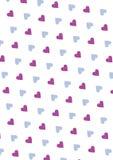 Sömlös förälskelsemodellbakgrund med hjärtor Vektor som upprepar textur Royaltyfri Fotografi