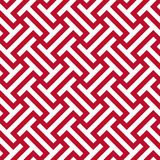 Sömlös företags röd och vit etnisk stam- modellvektor för op konst Royaltyfri Fotografi