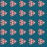 Sömlös förgätmigejblommamodell blom- Fotografering för Bildbyråer