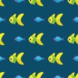 Sömlös fiskmodell för vektor Hav- eller akvariumbakgrund Royaltyfri Fotografi