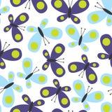 Sömlös fjärilsdesign Arkivfoton