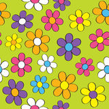 Sömlös flower power Royaltyfri Bild