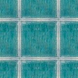 Sömlös fototextur av blåa trätegelplattor med somen för oljafläckar arkivfoto