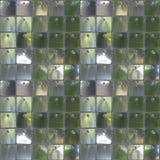 Sömlös fototextur av den lilla biten av spegelplattor för annons Arkivbilder