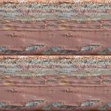 Sömlös fototextur av träplankor med röd olja arkivfoto