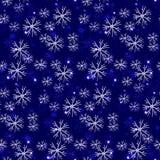 Sömlös frostig modell, snöflingor oss exponeringsglasillustration vektor illustrationer