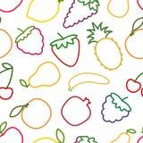 Sömlös frukt- och bäröversiktsmodell Stock Illustrationer