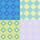 Sömlös fyrkant för fastställd färgrik geometrisk modell Vektorillustrat Arkivfoto