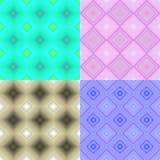 Sömlös fyrkant för fastställda geometriska modellblått också vektor för coreldrawillustration Arkivfoto