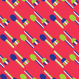 Sömlös gaffel- och skedmodell Arkivbilder