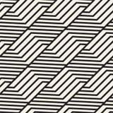 Sömlös gallermodell för vektor Modern stilfull textur med monokrom spaljé Upprepa geometriskt raster enkel design stock illustrationer
